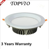 둥근 LED Downlight 10W Forsted PC SMD/COB LED 천장 빛