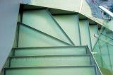 Caja fuerte El doble moderno Stringer, Escalera de vidrio / Escaleras con antideslizante de la banda de rodamiento de cristal