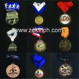 Medallas redondas de plata modificadas para requisitos particulares del metal