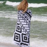 Хлопок напечатанный вокруг полотенца пляжа