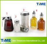 Hermétique de la sauce de sel en verre clair de bouteille d'huile