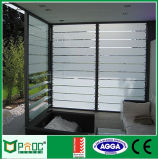 Ventana de aluminio de la lumbrera del vidrio helado para el cuarto de baño