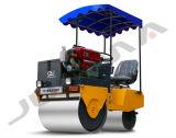 Compressor Vibratory Vibratory de rolo de estrada do cilindro dobro de 1 tonelada mini