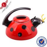 Decal animale Enamel Teapot con Bakelite Handle