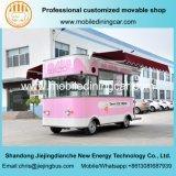 2017의 새로운 디자인 분홍색 전망 최신 판매 아이스크림 트럭