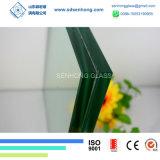 Freies blaues Grün-graues lamelliertes Glasbronzefenster
