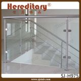 Balaustrada de vidro decorativa interna dos trilhos da escada do aço inoxidável da escadaria (SJ-H1461)