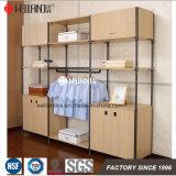 침실 의복 조직자와 옷장 선반의 현대 두 배 로드 강철 나무로 되는 가구