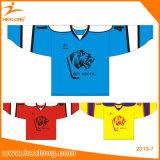Healong 운동복 승화 미국 주문 대학 아이스 하키 Jerseys 셔츠