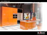 Welbomの光沢度の高い現代台所家具のモジュラーラッカー食器棚