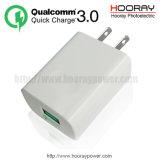 Us/EU 플러그 QC3.0 접합기 Qualcomm 빠른 책임 3.0 이동 전화 부속품 QC 3.0 이동할 수 있는 충전기 USB 전력 공급 5V3.1A 여행 충전기 빠른 벽 충전기