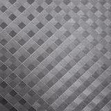 Gostaria de cristal PU Couro, tecer couro decorativo texturizado