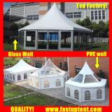 イベントの直径8mのための最もよいアルミニウム六角形のテント60人のSeaterのゲスト