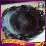 8.5X10.5 noir avec 25 % des cheveux gris Cheveux humains Toupee