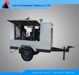 Compresseur d'air rotatoire portatif exempt d'huile de vis