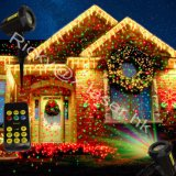 Luz da decoração do Natal do laser da estrela da noite