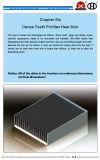 Dissipatore di calore dell'invertitore fatto della lega di alluminio 6063