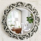 16 Polegadas Decoração de parede Flor Retro Espelho de Parede