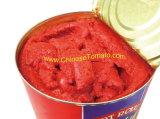 新しく赤い二重集中された缶詰にされたトマトのりのトマトソース