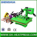 6 em 1 máquina combinado Multifunction da transferência térmica para o Tshirt