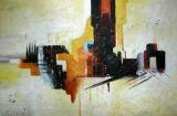 Huile sur toile abstraite - 0128