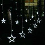 Luz de hadas de la estrella de la seguridad LED 12 de la luz grande de la cortina para la decoración de interior