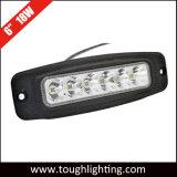 12 볼트 6 Inch 18W Waterproof 크리 말 Flush Mount LED Work Lamp