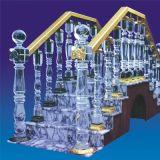 Accessori della colonna dell'inferriata della scala di cristallo di modo per la decorazione domestica