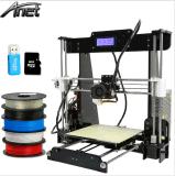 최신 판매 단 하나 압출기 Reprap Prusa I3 3D 인쇄 기계 DIY 장비 Upgrad Anet A8 선택할 수 있는 필라멘트 SD 카드 2004년 LCD