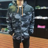 Army Cambo Print Jacket Hoodies Roupas com Zip-up Wear Fw-8661