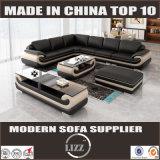 本革L形のソファー(Lz1488-1)