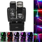 Adj Crazy Beam Light Double roue 4in1 8X10W LED tête mobile