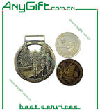 Die in lega di zinco Casting 3D Medal con Antique Brass Plating (LAG-Medal-06)