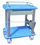Movimiento ABS Hospital dos estanterías con un cajón paciente el tratamiento de drogas carro