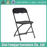 Miete für Hochzeitsfest Black pp. Steel Plastic Folding Chair