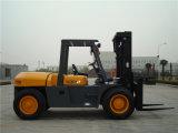 中国のフォークリフト10tonの重いディーゼルフォークリフト