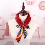 La plus récente de l'hiver foulard en soie véritable Écharpe de fourrure de lapin Rex réel