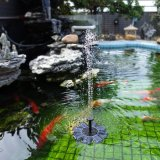 Солнечная фонтан насоса сад пруд с высоты птичьего полета ванной водяной насос