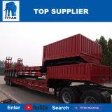 Titan 2 à 4 essieux personnalisée en usine de lourdes charges anormales 3 Lit Double Alxe pneu faible remorque de camion