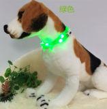 Design de moda LED de carga USB Colar Trela Pet
