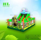 ドラゴンの膨脹可能なFuncityの弾力がある城の子供のための跳躍の家のスライド