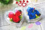 새로운 디자인 투명한 아크릴 심혼 모양 꽃 상자