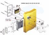 Blocage de porte intelligent codé par clé sèche électronique en alliage de zinc d'hôtel de blocage de traitement de porte