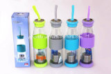 Botella de agua de plástico reutilizables Tritan Sports botella con tapa de bloqueo