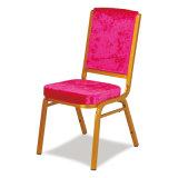 椅子を食事するホテルの宴会をスタックする金属