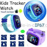접촉 스크린 D25를 가진 방수 휴대용 아이 또는 아이 GPS 추적자 시계