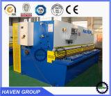 Máquina de corte hidráulica QC12K-20X5000 da placa de aço do feixe do balanço do CNC
