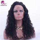 Hermoso pelo largo cabello virgen de la onda de agua de encaje suizo peluca de encaje completo