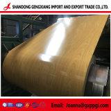 Lo strato di legno della bobina del grano PPGI/ha preverniciato la lamiera di acciaio galvanizzata