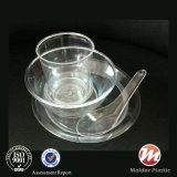 Tableware PS ясности/прозрачной/белой пластмассы цвета устранимый